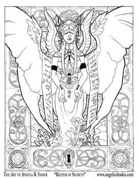 Keeper of Secrets Line Art by AngelaSasser