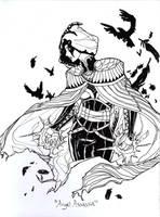 Book Sketch - Angel Assassin by AngelaSasser