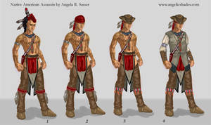 Native American Assassin for AC3 by AngelaSasser