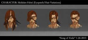 SoE Melakim Fahre - Eyepatch/Hair Variations by AngelaSasser