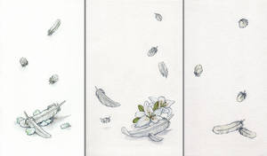 Falling Feathers Triptych by AngelaSasser
