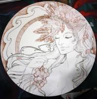 Dragon Con 2014 Charity Plate - Harvest Elf by AngelaSasser
