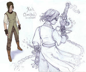 EXALTED: Kalara Vadras, The Uncrucified 1st Sketch by AngelaSasser