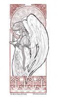Christmas Angel Line Art by AngelaSasser