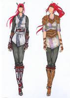 Nariko of Heavenly Sword Redesign - Fashion Plates by AngelaSasser