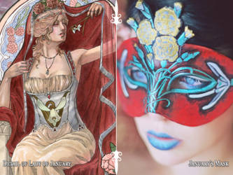 Lady of January Painting and Mask Set by AngelaSasser