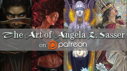 The Art of Angela R. Sasser on Patreon Banner 2015 by AngelaSasser