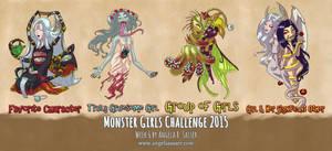 Monster Girls Challenge 2015 - Week 6 by AngelaSasser