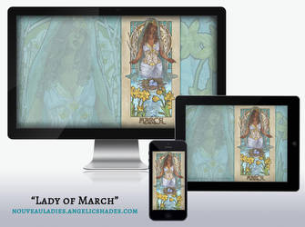 Wallpaper Kit - Lady of March by AngelaSasser