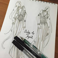 Lady of April Fashion Sketches by AngelaSasser