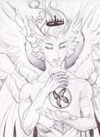 Book Sketch: Powerful Angel by AngelaSasser