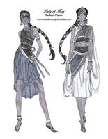 Lady of May Fashion Sketches by AngelaSasser