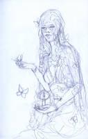 Lady of November Prelimanary Sketch by AngelaSasser