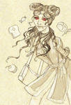 Anko Xelkova - DnD Character First Sketch by AngelaSasser