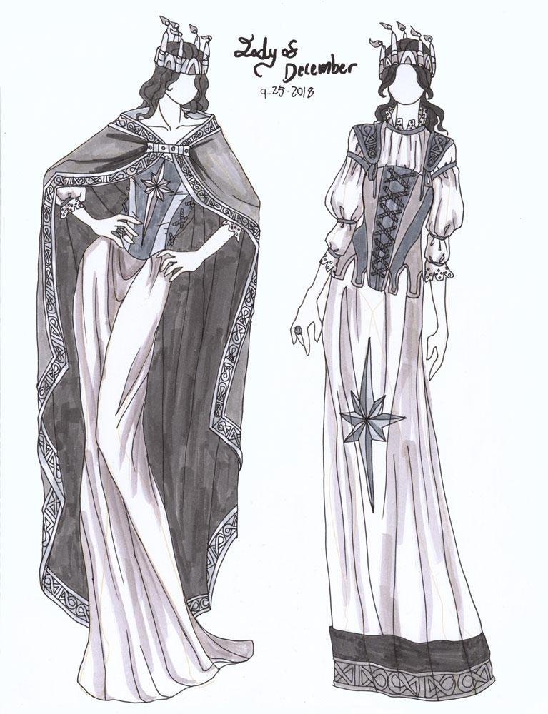 Fashion Design - Lady of December by AngelaSasser
