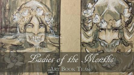 Ladies of the Months Art Book Tease by AngelaSasser