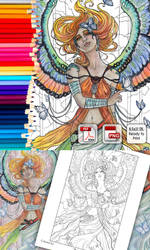 Coloring Page - Butterfly Guardian by AngelaSasser