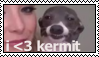 Jenna Marbles' Kermit stamp by lethianu