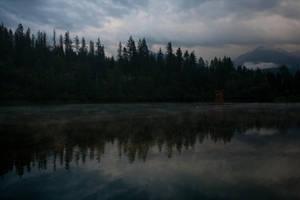 Misty Mountain Lake by leeorr-stock