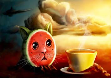 Watermelon Kitty by AdNoctvm87