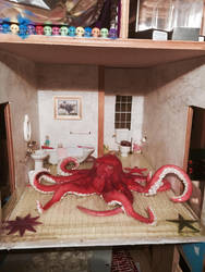 Cthulhu's Bathroom by kelseyartes