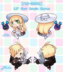 PRE-ORDER Lillie and Gladion Acrylic charms! by shadoouge