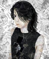 Hyde Collage Portrait by tsuki-no-neko
