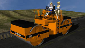 Kagamine Twins And Road Roller by MCMXC2