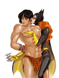 Korak and Batgirl 2 by jen-and-kris, commissioned by korak225