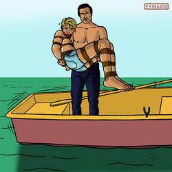 Sandy in the Black Lagoon 2 by bondageincomics by korak225