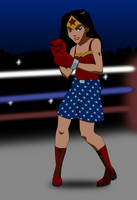 Boxing WonderGirl (Young Justice Style) by Skele