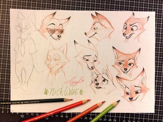 Nick Wilde - sketches by sounf