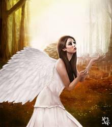 Angel by BluefireArt