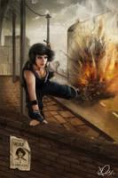 Female terrorist by BluefireArt