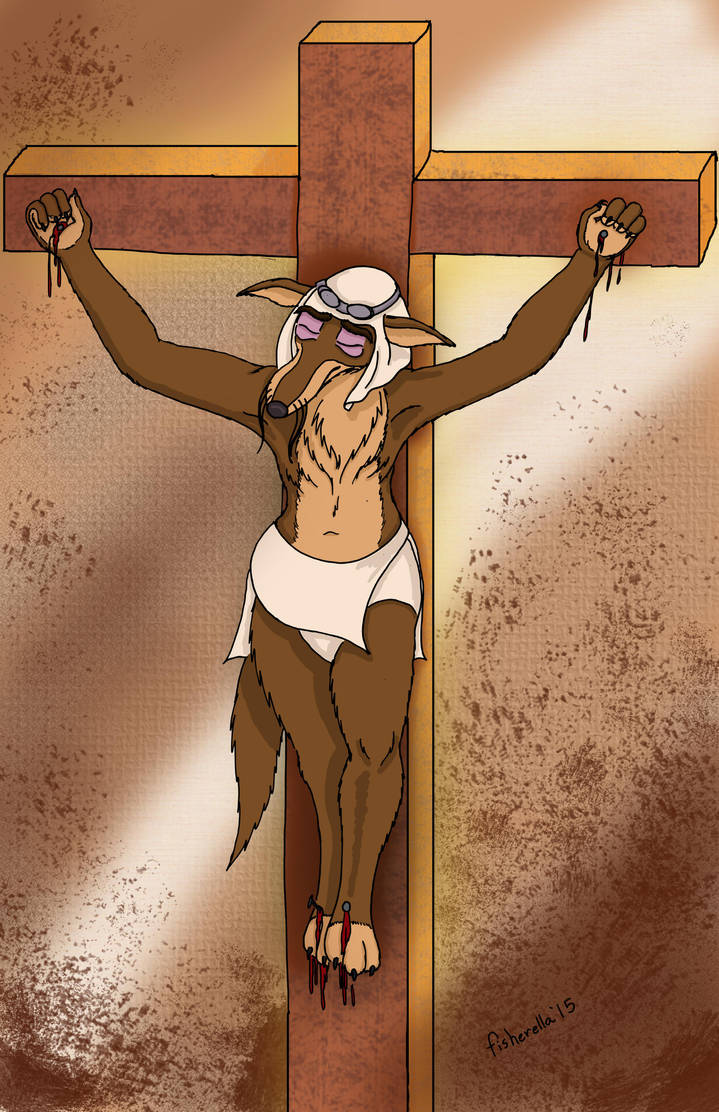 The Crucifixion of Mad Dog by Fisherella