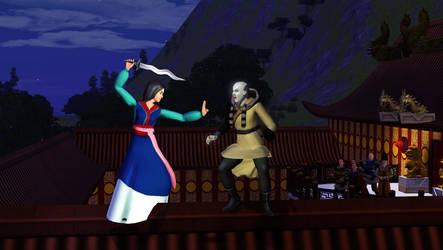 Mulan versus Shan Yu by snarro84