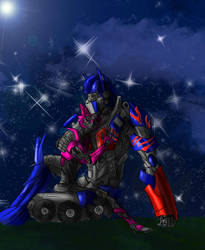 Optimus and Elita-one by SH-Illustration