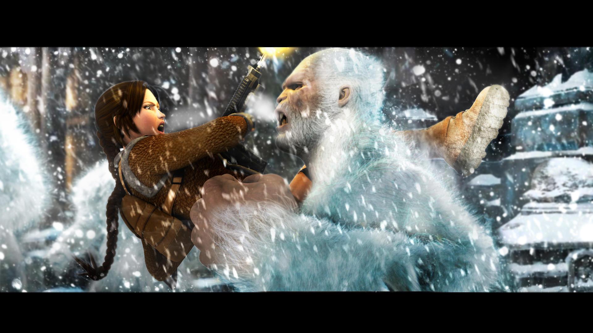 Lara Croft and the YETI by Croft094