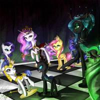 Celestia sucks at chess by YuntaoXD