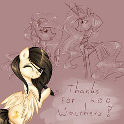 THANKS FOR 500 WATCHERS !!! by YuntaoXD