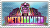 The Metronomicon: Slay the Dance Floor Stamp by GiantPurpleCat
