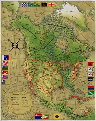 Map of Noramerika by Sapiento