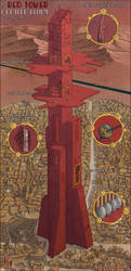 The Red Tower of Greater Helium by Sapiento