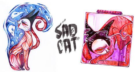 sad cats by timjammi