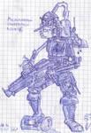 Skeletor warrior in CIB by Kryol