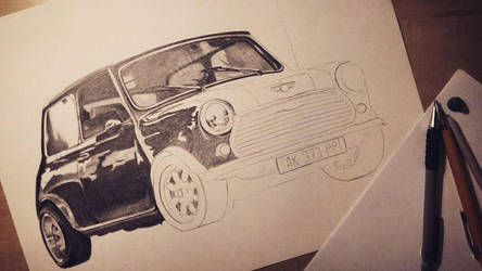 Mini Austin WIP by emicathe