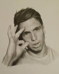 Joe Weller Drawing by Lewis3222