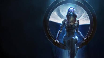 Mass Effect Tali Wallpaper by Zecardo