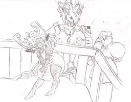 Baby Midna and Mama Shia by Aungshadow
