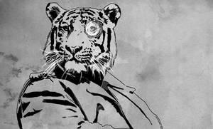 Steampunk Tiger Doodle by JonathanWyke